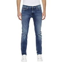 Buy Hilfiger Denim Dynamic Stretch Scanton Slim Fit Jeans, Faded Blue Online at johnlewis.com