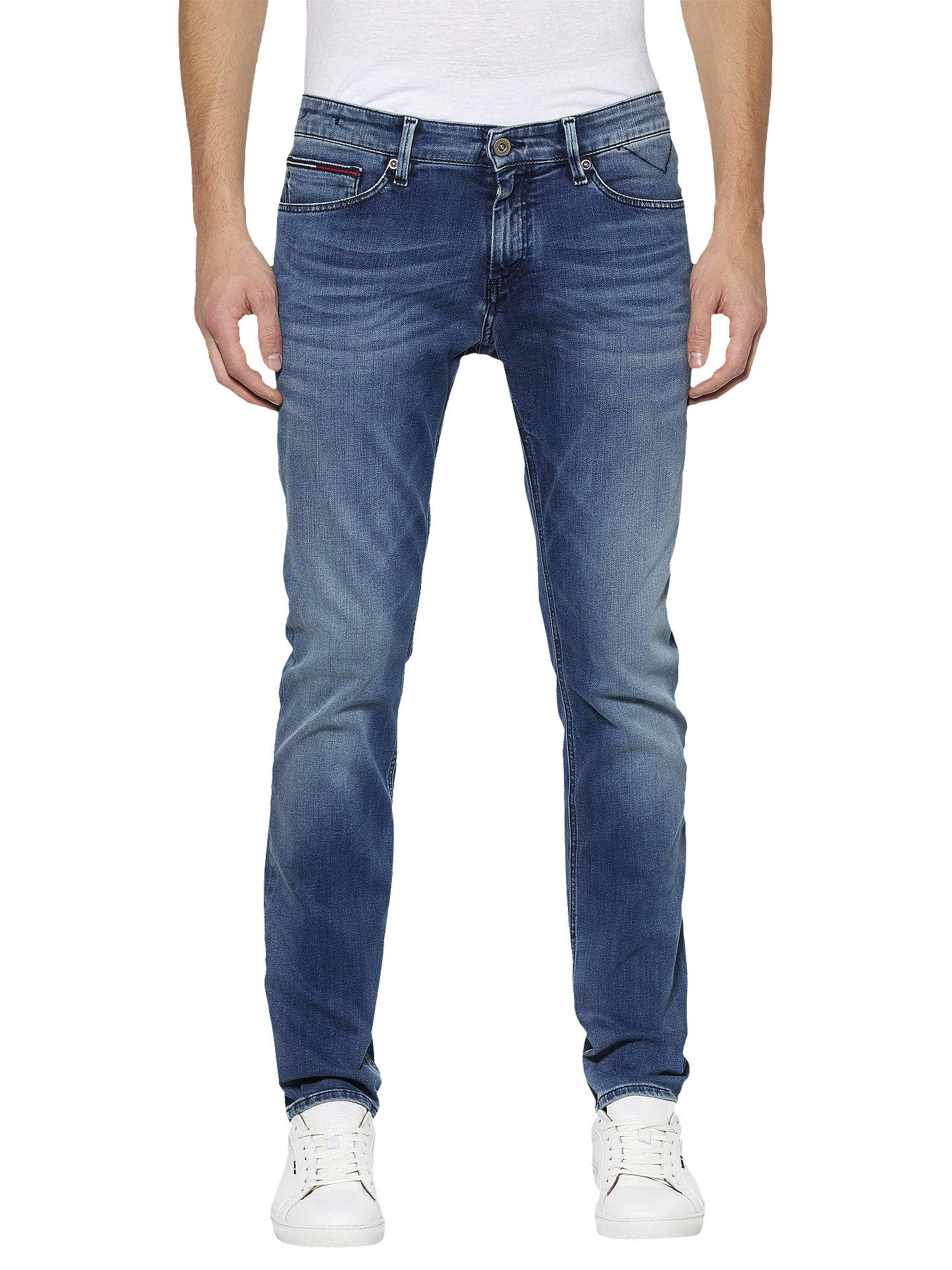 9f10bb15 Buy Tommy Jeans Dynamic Stretch Scanton Slim Fit Jeans, Faded Blue, 32S  Online at ...
