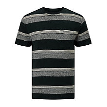 Buy JOHN LEWIS & Co. Cotton Linen Stripe T-Shirt, Indigo Online at johnlewis.com