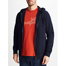 Buy John Lewis Cotton Full Zip Jumper, Navy Online at johnlewis.com