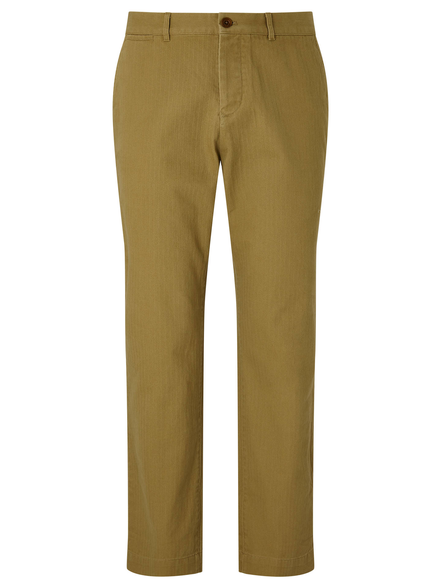 Buy JOHN LEWIS & Co. Oliver Herringbone Chino Trousers, Stone, 32S Online at johnlewis.com