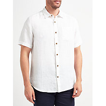 Buy John Lewis Plain Linen Short Sleeve Shirt Online at johnlewis.com
