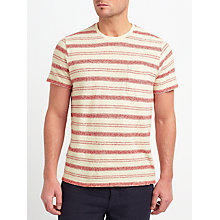 Buy JOHN LEWIS & Co. Cotton Linen Stripe T-Shirt Online at johnlewis.com