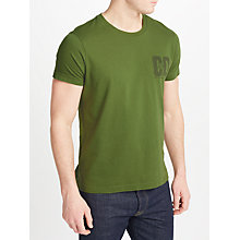 Buy JOHN LEWIS & Co. Logo T-Shirt, Khaki Online at johnlewis.com