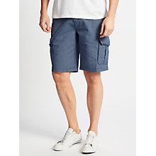 Buy John Lewis Stripe Cargo Shorts, Navy Online at johnlewis.com