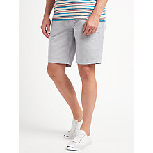 Buy John Lewis Cotton Linen Stripe Smarter Chino Shorts, Grey/Navy Stripe Online at johnlewis.com