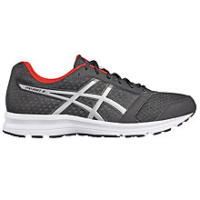 Buy Asics GEL-PATRIOT 8 Running Shoes, Black/Grey Online at johnlewis.com