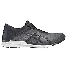 Buy Asics FuzeX Rush Men's Running Shoes, Grey/Black Online at johnlewis.com