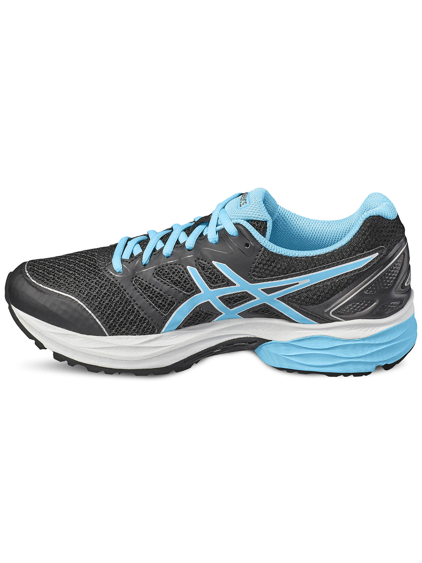 Asics Gel Pulse 8 Womens Cushioned Running Shoes Trainers Black Blue Women