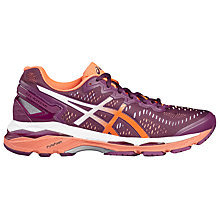 Buy Asics GEL-Kayano 23 Women's Running Shoes, Purple/Coral Online at johnlewis.com