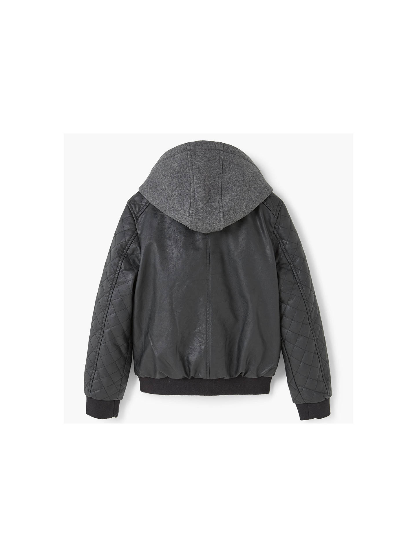 d01304cdd ... Buy Mango Kids Boys' Hooded Bomber Jacket, Black, 4 years Online at  johnlewis ...
