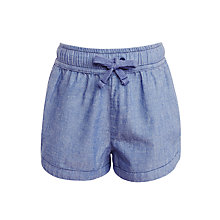 Buy John Lewis Girls' Chambray Shorts, Blue Denim Online at johnlewis.com