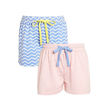 Buy John Lewis Girls' Chevron Shorts, Pack of 2, Purple/Pink Online at johnlewis.com