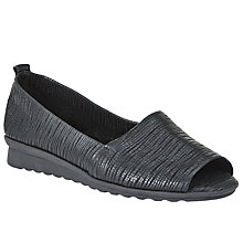 Buy John Lewis Designed for Comfort Galah Slip On Sandals, Black Online at johnlewis.com