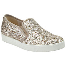 Buy John Lewis Designed for Comfort Ezra Slip On Trainers, Gold Online at johnlewis.com