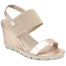 Buy John Lewis Designed for Comfort Kea Wedge Heeled Sandals, Gold Online at johnlewis.com