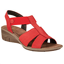 Buy John Lewis Designed for Comfort Kathy Wedge Heeled Sandals, Red Online at johnlewis.com