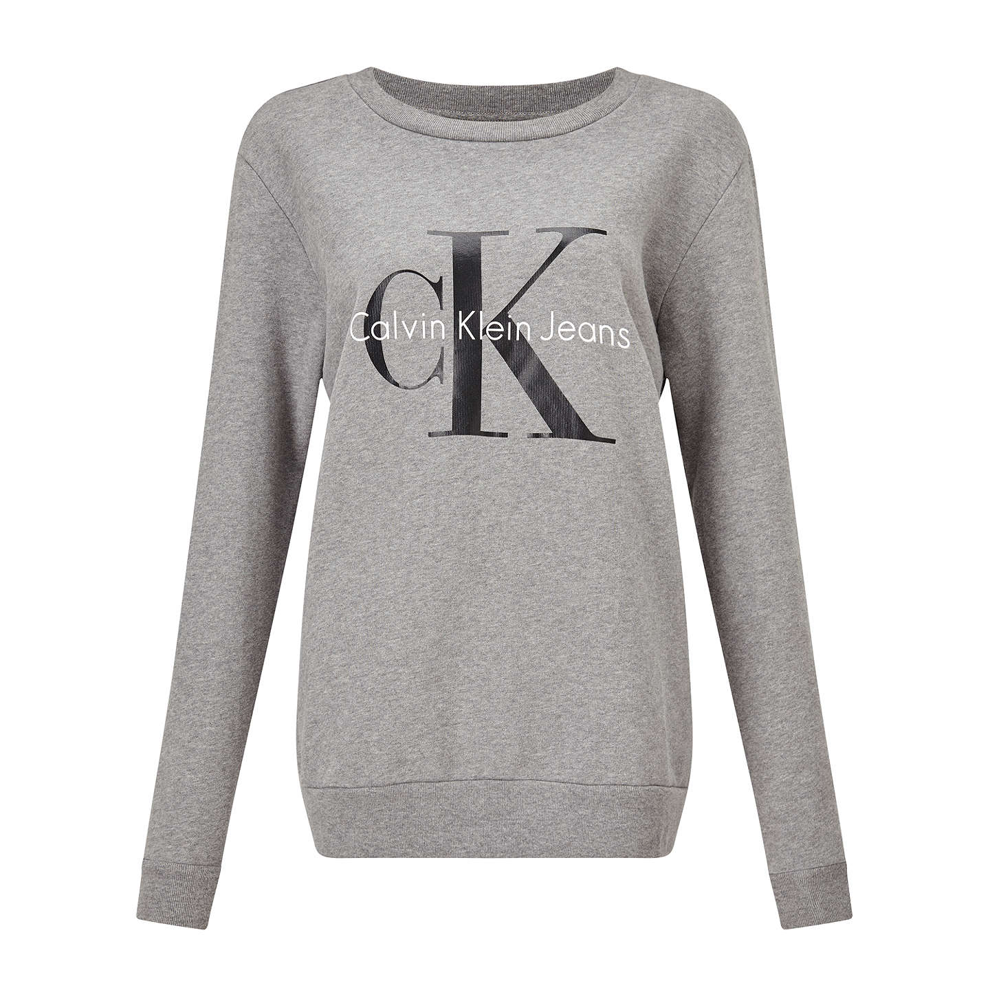 Calvin Klein Printed Logo Sweatshirt, Light Grey Heather by Calvin Klein