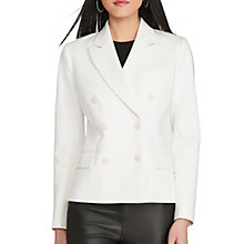 Buy Polo Ralph Lauren Double-Breasted Twill Jacket, Off White Online at johnlewis.com