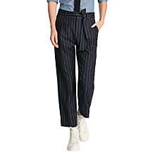 Buy Polo Ralph Lauren Stripe Straight Trousers, French Navy Online at johnlewis.com