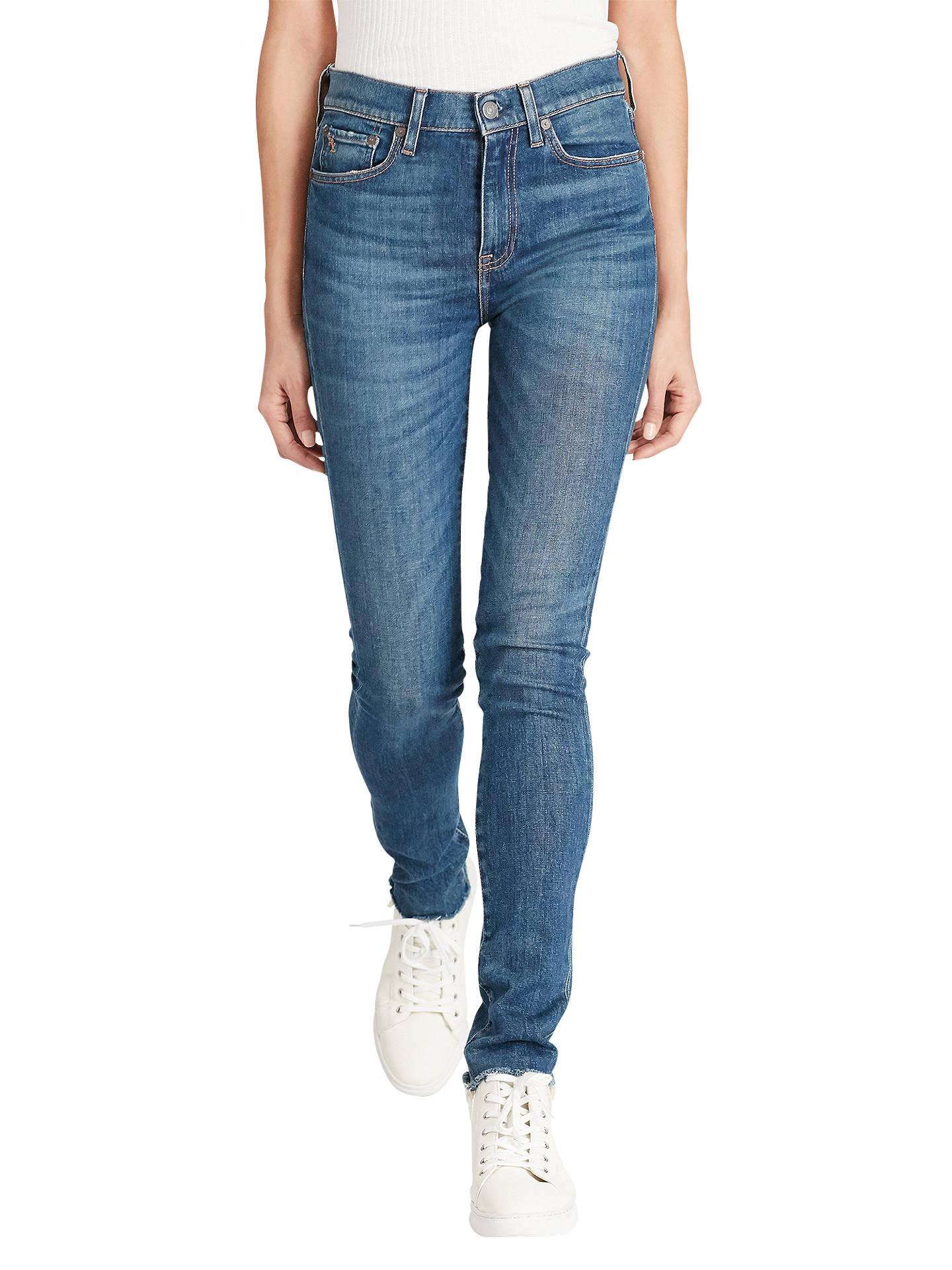 cf79213c8ec2b Buy Polo Ralph Lauren High Rise Skinny Jeans, Medium Indigo, 27 Online at  johnlewis ...
