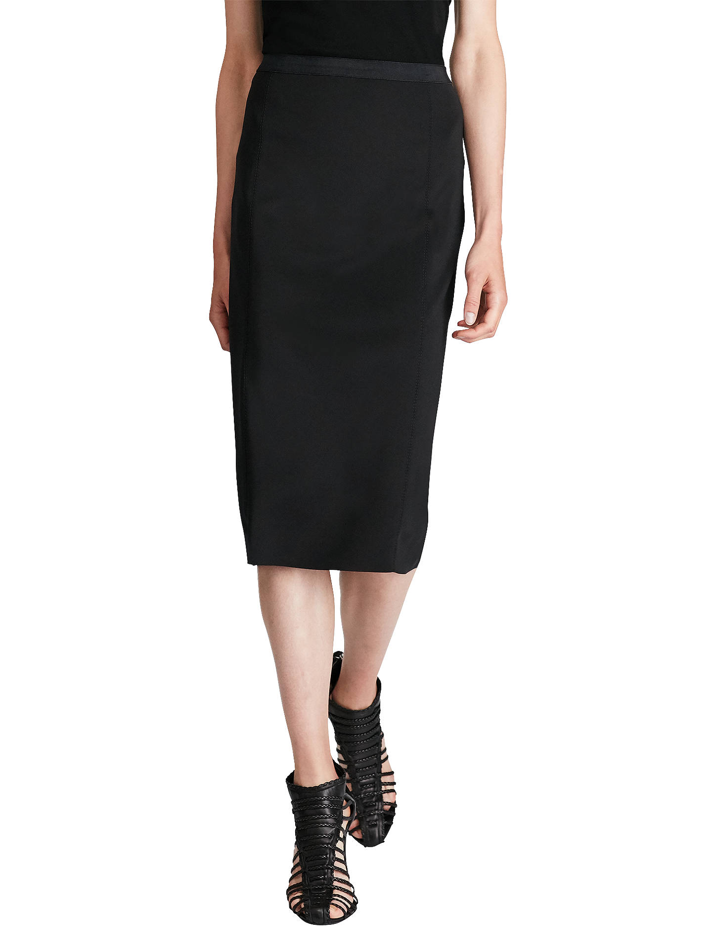 659098b677 Polo Ralph Lauren Ponte Midi Skirt, Polo Black at John Lewis & Partners