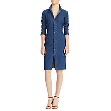Buy Polo Ralph Lauren Stretch Denim Shirtdress, Medium Indigo Online at johnlewis.com