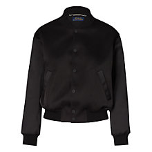 Buy Polo Ralph Lauren Bonded Satin Jacket, Polo Black Online at johnlewis.com