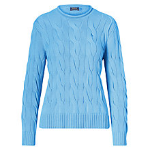 Buy Polo Ralph Lauren Boxy Cable Knit Jumper Online at johnlewis.com