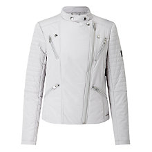 Buy Calvin Klein Oliani Asymmetric Zip Jacket, Vapour Blue Online at johnlewis.com