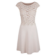 Buy Marc Cain Lace Bodice Dress, Shell Online at johnlewis.com