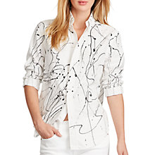 Buy Polo Ralph Lauren Relaxed Painted Oxford Shirt, White Online at johnlewis.com