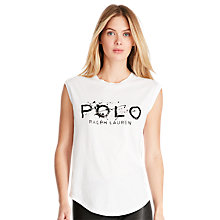 Buy Polo Ralph Lauren Cotton Jersey Graphic T-Shirt, White Online at johnlewis.com