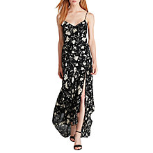 Buy Polo Ralph Lauren Floral Print Silk Maxi Dress, Black/Ecru Online at johnlewis.com