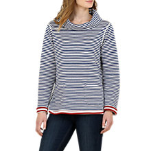Buy Seasalt Four Winds Reversible Stripe Sweatshirt, Duo Dahlia Marine Online at johnlewis.com