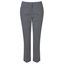 Buy Gardeur Dyan Cropped Printed Slim Trousers, Navy/White Online at johnlewis.com