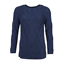 Buy Barbour Diamond Cable Knit Jumper Online at johnlewis.com