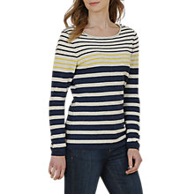 Buy Seasalt Shark's Fin Stripe Jumper, Sandhill Night Online at johnlewis.com