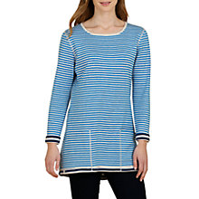 Buy Seasalt Henon Reversible Tunic Top, Duo Marine Cobalt Online at johnlewis.com