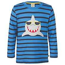 Buy Frugi Organic Boys' Discovery Shark Top, Blue Online at johnlewis.com