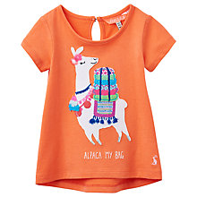 Buy Baby Joule Maggie Alpaca Applique Jersey Top, Coral Online at johnlewis.com