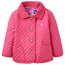 Buy Baby Joule Mabel Quilted Jacket, Pink Online at johnlewis.com