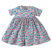 Buy Frugi Organic Baby Ditsy Garden Romper Dress, Multi Online at johnlewis.com