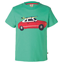 Buy Frugi Organic Boys' Stanley Car T-Shirt, Green Online at johnlewis.com