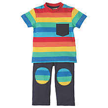 Buy Frugi Organic Baby Rainbow Play Day Outfit, Blue/Multi Online at johnlewis.com