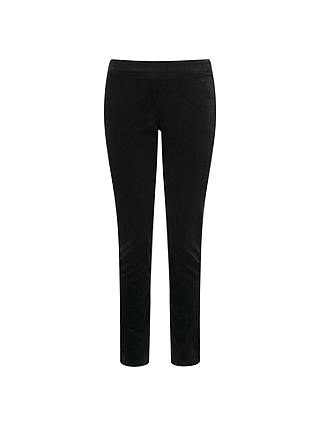 Buy Pure Collection Natalie Washed Velvet Trousers, Black, 18 Online at johnlewis.com
