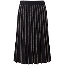 Buy Pure Collection Aubrie Skirt, Black Sparkle Online at johnlewis.com