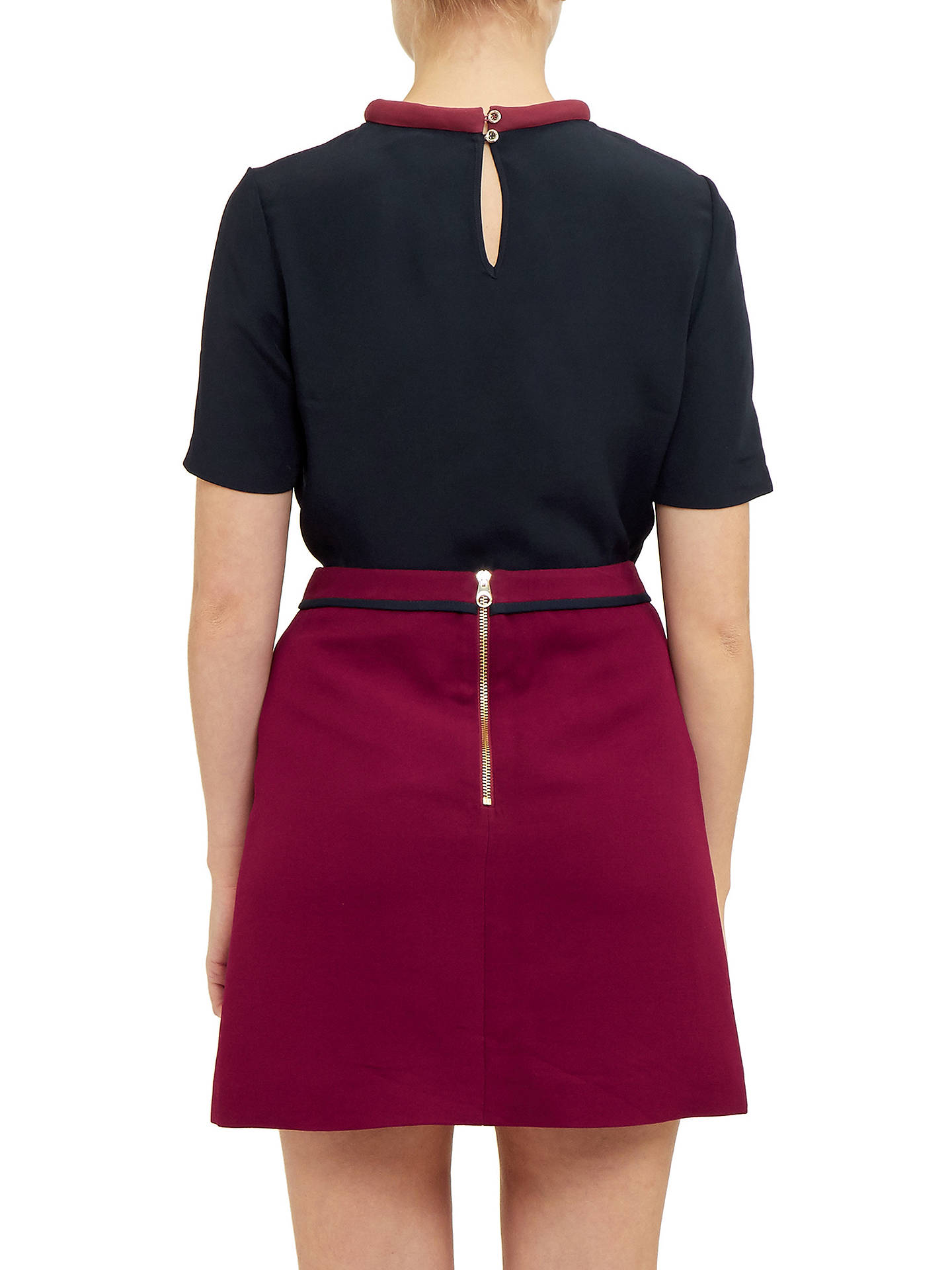 a57944580b2566 Ted Baker Colour By Numbers Sassa Tie Neck Top at John Lewis   Partners