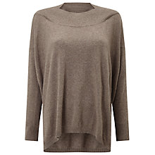 Buy Phase Eight Andria Envelope Neck Jumper, Mushroom Marl Online at johnlewis.com