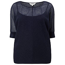Buy Studio 8 Anoushka Shimmer Top, Navy Online at johnlewis.com